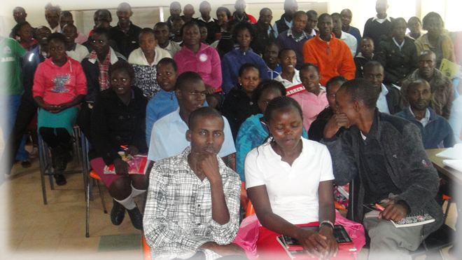 An IT session at Murang'a TTC